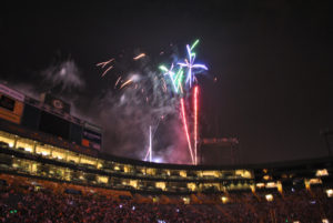 Green Bay Packers Family Night holiday Fireworks
