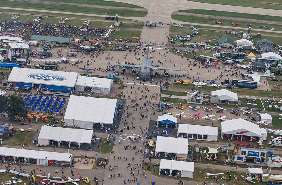 AirVenture Fly-in Convention in Oshkosh Wisconsin near Green Bay
