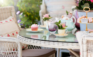 Mother's Day high tea in the garden