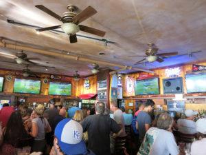 Sports bar - people watching football game
