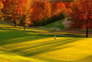 Golf Course with Fall Foliage