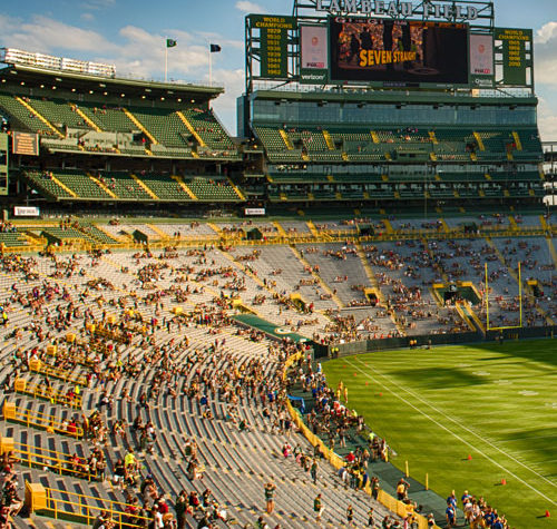 Try Lambeau Field Tours Next Time you Visit our Green Bay Bed and Breakfast