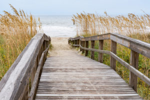 Accessible Boardwalk on Crescent Beach in Algoma, Wisconsin